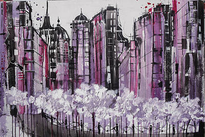 Nyc Painting - City Dreams by Irina Rumyantseva