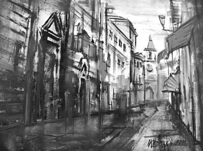 City Everyday Life  Art Print by Khromykh Natalia
