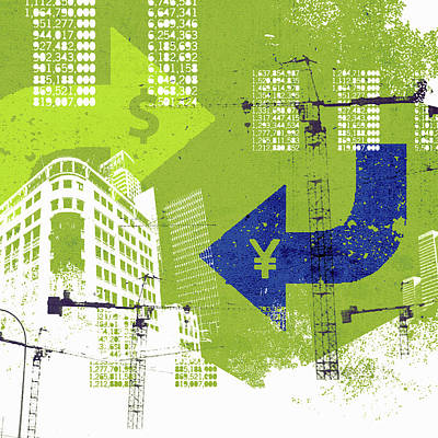 Photograph - City Finance And Development Collage by Ikon Ikon Images