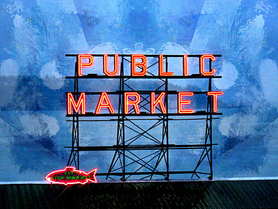 Photograph - City Fish Market by John Fish