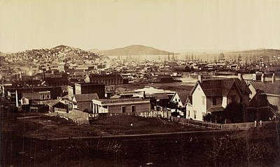 1860 Drawing - City Front From Rincon Hill In 1860 Carleton Watkins by Litz Collection