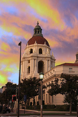 Photograph - City Hall At Sundown by Robert Hebert