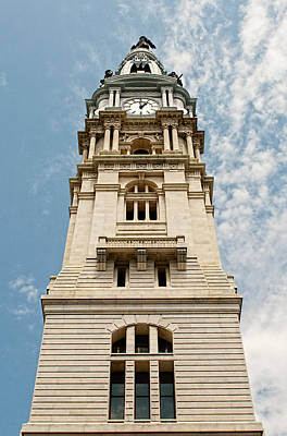 Photograph - City Hall Clock Tower II by Kristia Adams