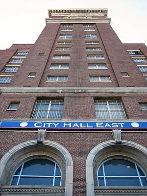 Photograph - City Hall East Facade by Cleaster Cotton