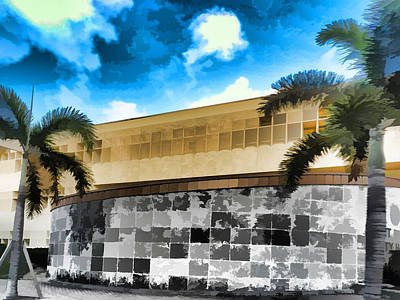 Fort Pierce Digital Art - City Hall Fort Pierce by Grace Dillon