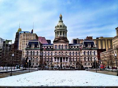 City Hall In Baltimore Art Print