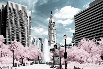 City Hall In Spring Art Print