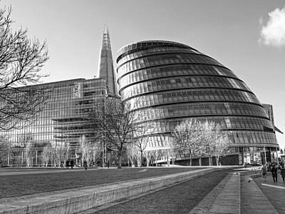 London Landmark Photograph - City Hall London And The Shard by Gill Billington