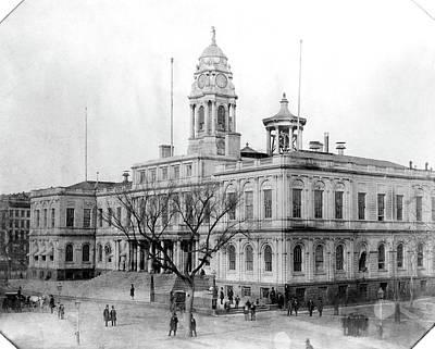 Photograph - City Hall, New York City by Granger