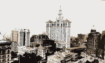 City Hall Drawing - City Hall Park, N by Litz Collection