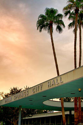 Featured Images Photograph - City Hall Sky Palm Springs City Hall by William Dey