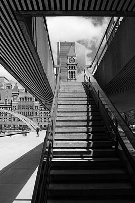 Nathans Photograph - City Hall Steps 2 by Andrew Fare