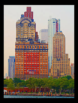 Art Print featuring the photograph City High by B Wayne Mullins