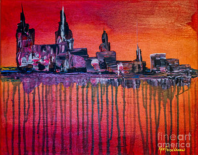 Painting - City In Despair  by Ken Frischkorn
