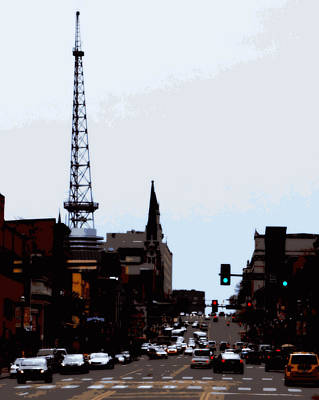 Downtown Nashville Digital Art - City In Motion by Laurie Pike