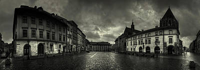 Poland Photograph - City In The Rain by