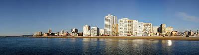 City In Waterfront, Vinaros, Province Art Print