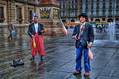 Art Print featuring the photograph City Jugglers by Ron Shoshani