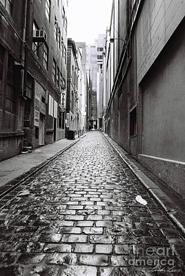 Laneway Photograph - City Lane Melbourne by Linda Lees