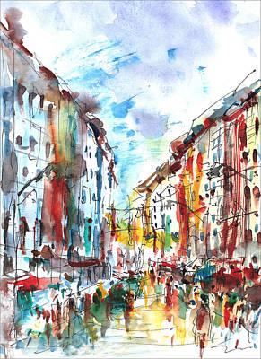 City Life... Art Print by Faruk Koksal