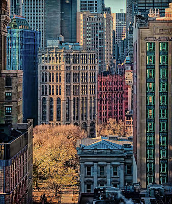 Manhattan Buildings Photograph - City Life by Liyun Yu