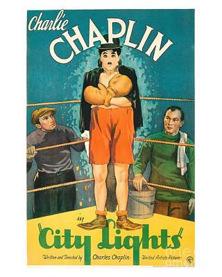 City Light Movie Poster - Chaplin Art Print