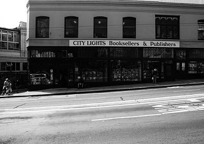 Photograph - City Lights Booksellers by Aidan Moran