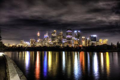 Sydney Skyline Photograph - City Lights by Alex Gitman