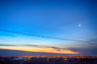 Photograph - City Lights And A Venus Morning Sky by James BO  Insogna