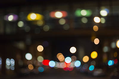 Photograph - City Lights At Night by Susan Stone