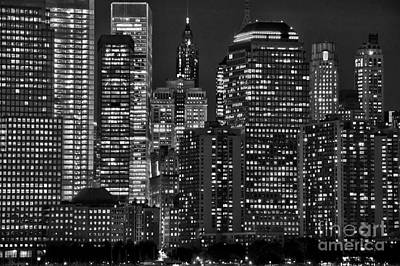 Abstract Skyline Photos - City lights by Delphimages Photo Creations