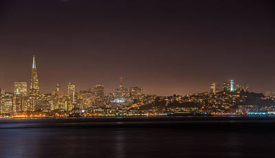 Photograph - City Lights San Francisco California by James Hammond