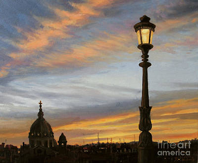 Cloudscape Painting - City Lights by Kiril Stanchev