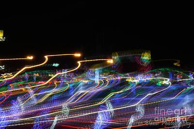Creative Manipulation Photograph - City Lights by Lauren Blazer