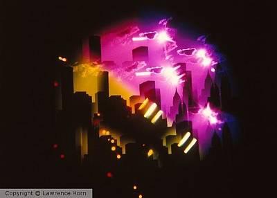 Mythopoetic Photograph - City Lights by Lawrence Horn