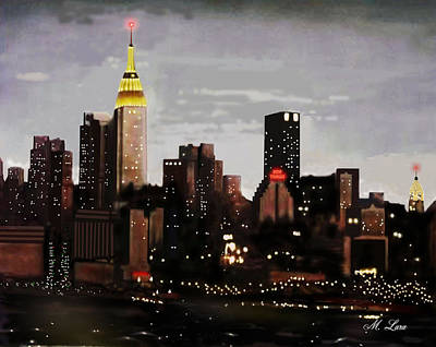 The View Of Art Mixed Media - City Lights by Marcos Lara