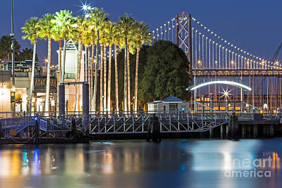 Photograph - City Lights On Mission Bay by Kate Brown