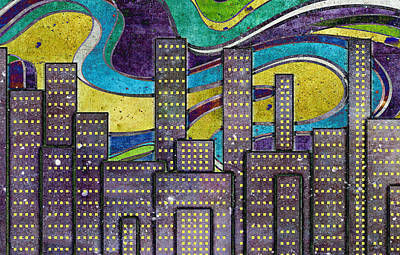 Digital Art - City Lights by Shawna Rowe