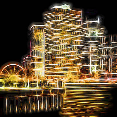 Photograph - City Lights by Theodore Jones