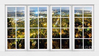 City Lights White Window Frame View Art Print by James BO  Insogna