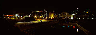 Cape Town Photograph - City Lit Up At Night, Cape Town by Panoramic Images