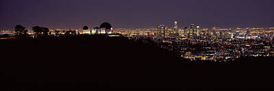 City Lit Up At Night, Griffith Park Art Print