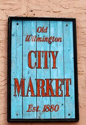 City Market Sign Art Print by Cynthia Guinn