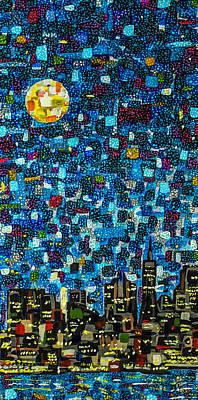 Painting - City Mosaic by Joel Tesch