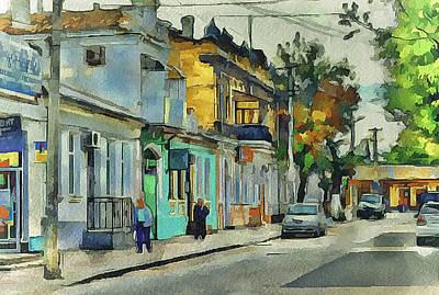 Progress Digital Art - City Near Black Sea by Yury Malkov