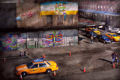 City - New York - Greenwich Village - Life's Color Print by Mike Savad