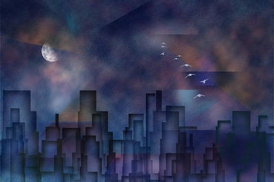 City Night Art Print by Bruce Rolff