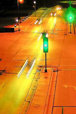 Photograph - City Night Lights  by Susan  McMenamin