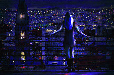 Digital Art - City Nights City Lights by Jane Schnetlage