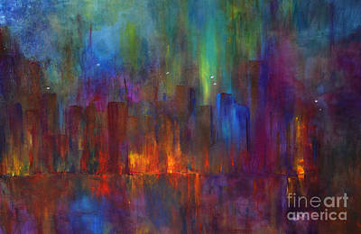 Painting - City Nights by Claire Bull